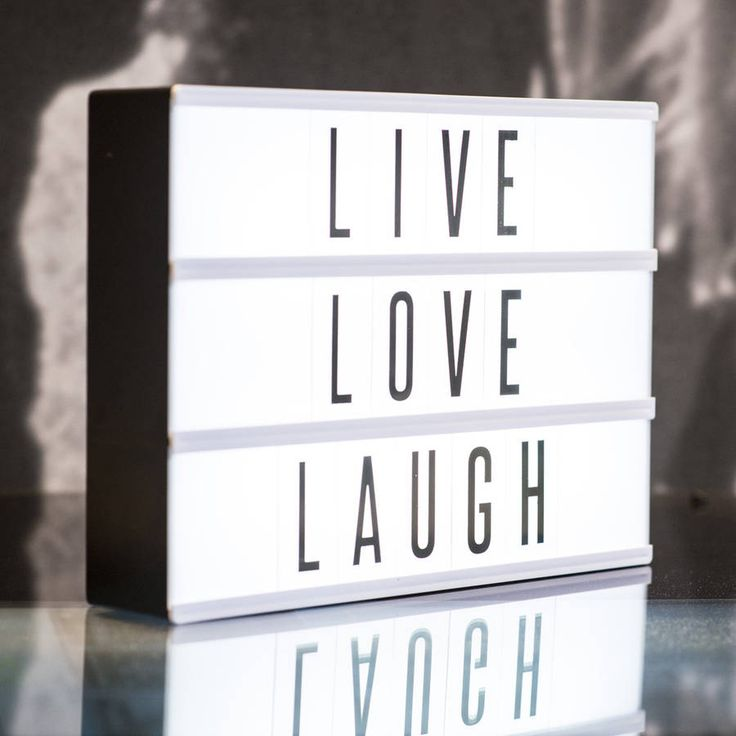 Cinematic Lightbox ~ LOVE THIS! This gem comes with changeable letters. Choices of black letters or colored letters!