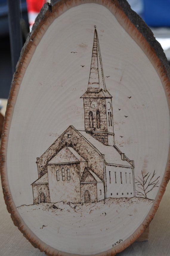 Church Woodburning $45