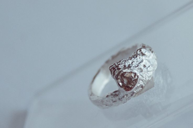 metal clay silver with yellow sapphire