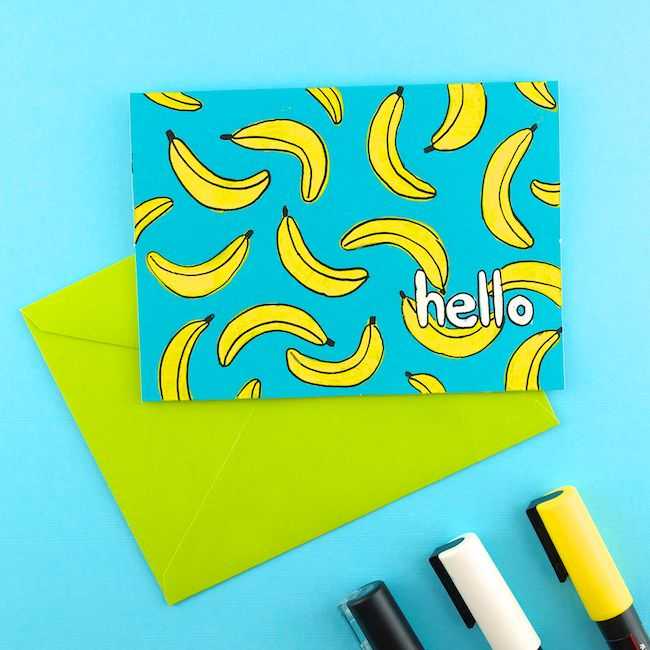DIY Doodle Card - Omiyage Blogs: Send Tropical Mail