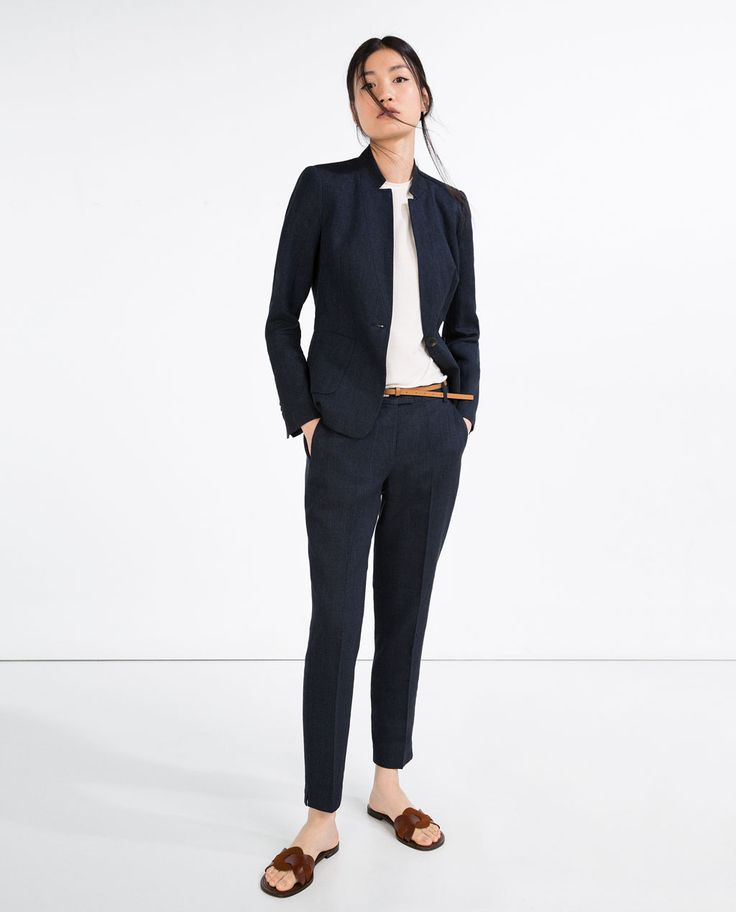 ZARA - WOMAN - LINEN TROUSERS WITH BELT