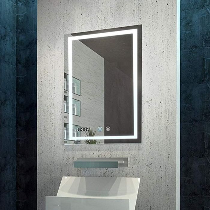 Daytona Illuminated Bathroom Mirror By Aquadomnew And Improved Exciting Features Were Added To The Aquadom Flag Ship Bathroom Mirror Led Mirror Bathroom Mirror