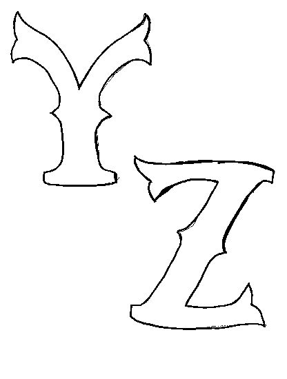y z letters