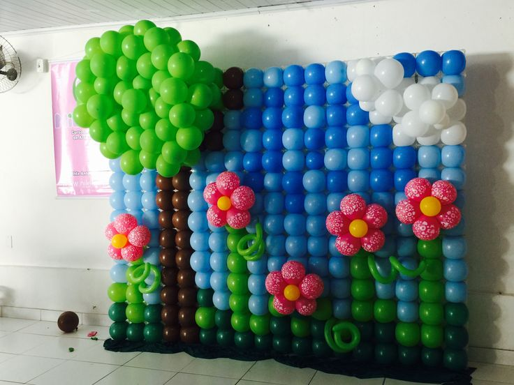 Открытка из воздушных шаров