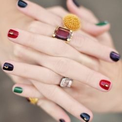 Bejeweled Nails & Jewel Tones Manicure