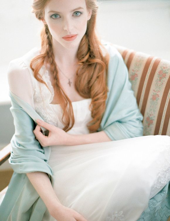 Mint shawl for bride: Iced Coffee Wedding Theme { Pantone Spring 2016 }