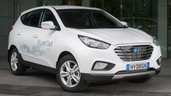 Australia's first hydrogen car launched, with solar refueller By Sophie Vorrath on 1 April 2015 Print Friendly  Nearly four months after its arrival on Australian soil, the nation's first hydrogen fuel cell passenger vehicle has been officially unveiled in Sydney, alongside another first – a solar powered hydrogen refuelling station.  The South Korean-made Hyundai SUV ix35 Fuel Cell, which first arrived in Sydney in early December, was launched by federal industry minister Ian Macfarlane –…