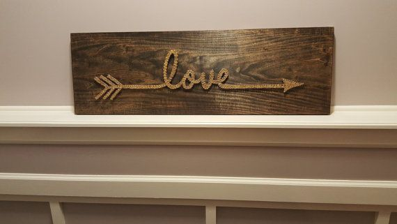 Love Arrow String Art Sign by BoatMade on Etsy