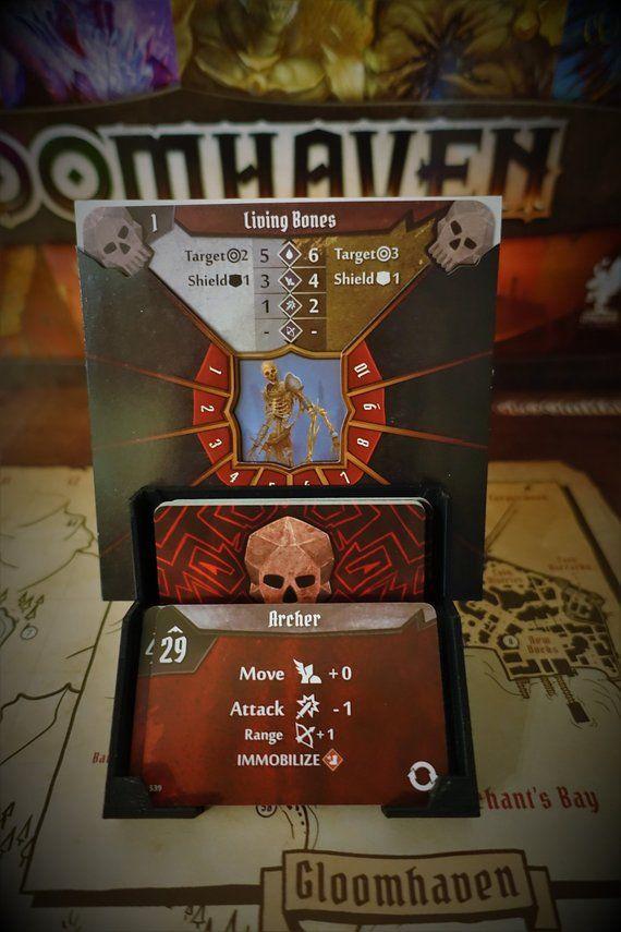 Gloomhaven Monster Deck Holder Deck Etsy Gift Card Monster