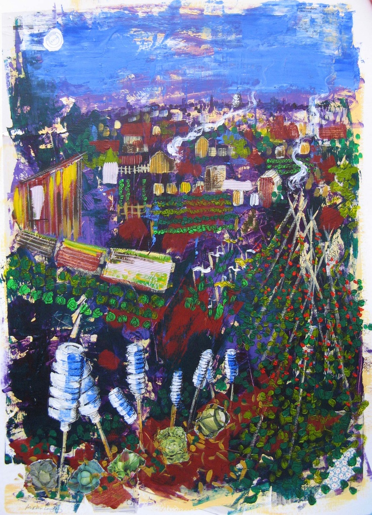 Evening Allotment 1 by Mikki Longley