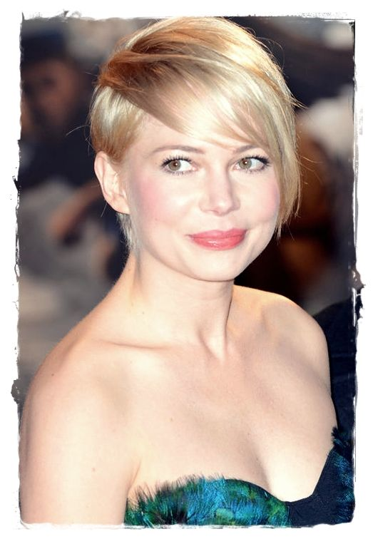 Celebrity Inspired #Hairstyles - Michelle Williams Pixie-Cut Bang
