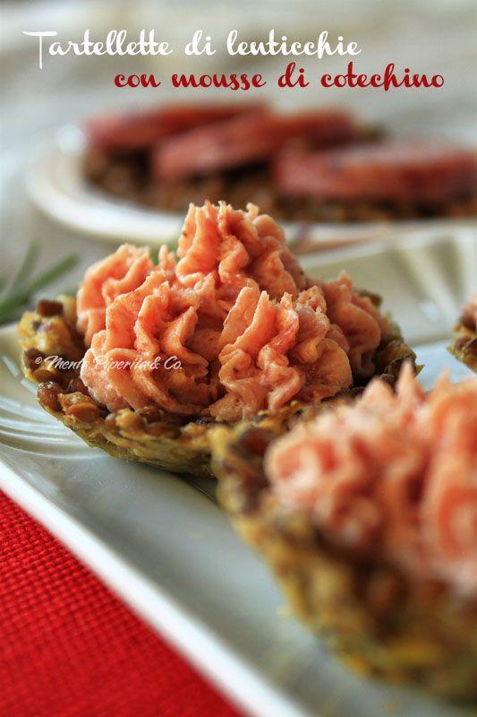 Tartellette di lenticchie con mousse di cotechino