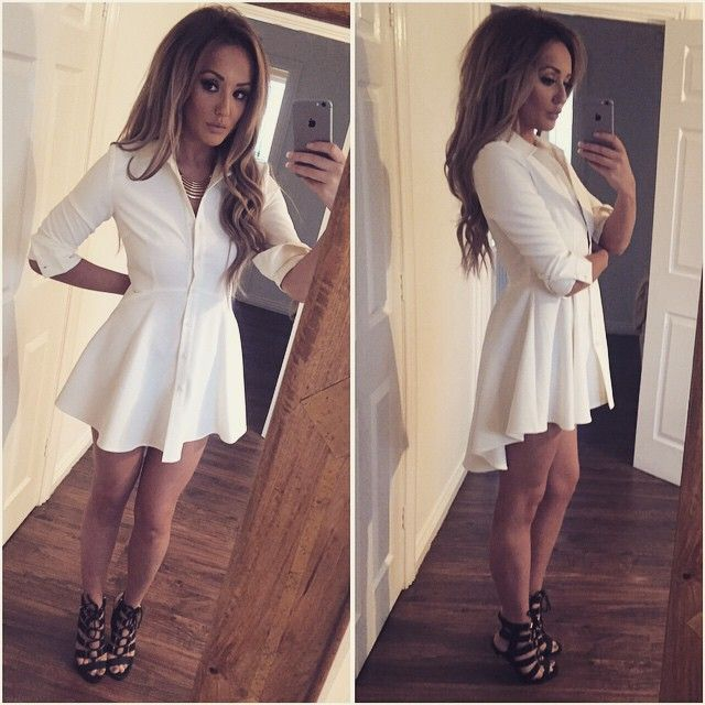 """"""" #NYE dress sorted!! My skirt/shirt dress from @inthestyleUK , part of my range #nostalgia OBVS """""""