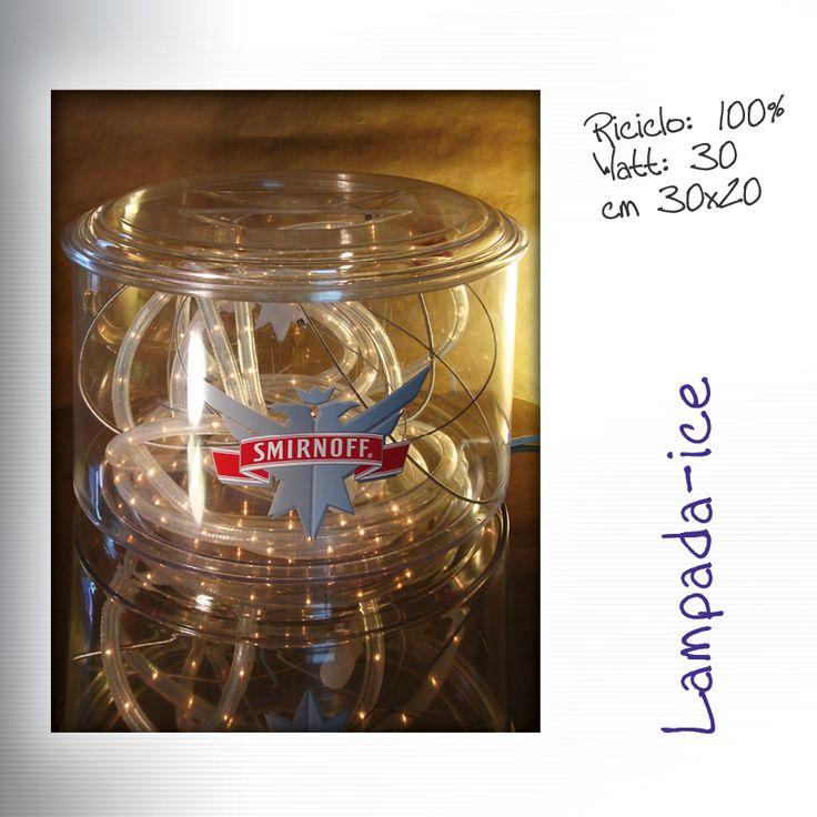 Lampada da tavolo Smirinoff  #porta-ghiaccio #bar #pub #lampada #vintage