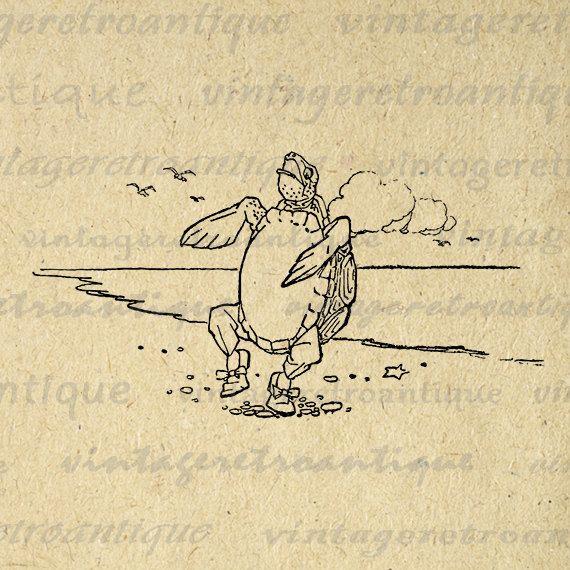 Mock Turtle Alice in Wonderland Digital Image Download