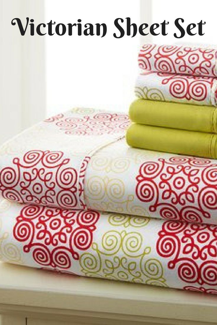 I love this Victorian sheet set.  Nice colors for winter! #homedecor, #bedroomdecor, #ad