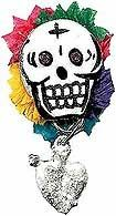 DIA DE LOS MUERTOS CRAFT: Skully Pin | CraftyChica.com | Official site of award-winnning artist and novelist, Kathy Cano-Murillo.