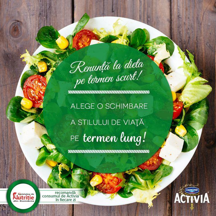 Renunţă la dieta pe termen scurt. Alege o schimbare a stilului de viaţă pe termen lung.    #ActiveazaStareaDeBine #ProvocareaActivia  www.activia.ro/ProvocareaActivia/blog