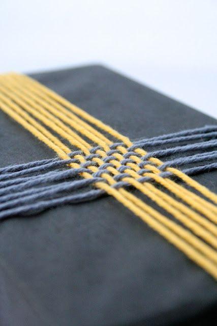 Braided yarn gift wrap
