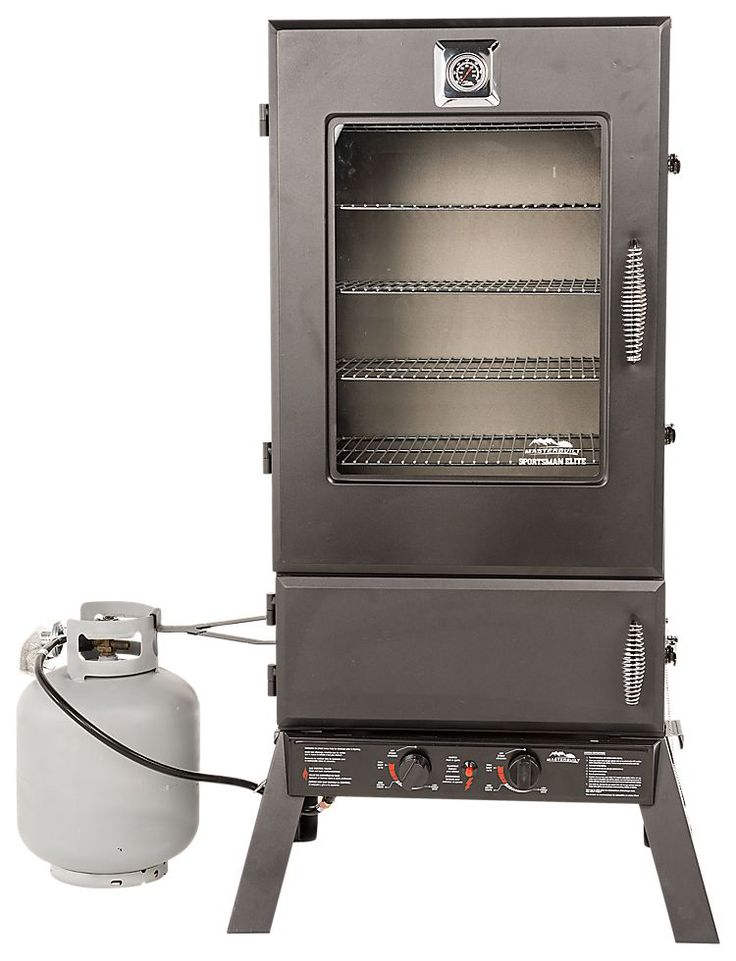 Masterbuilt Sportsman Elite 44'' Two-Door Propane Smoker with Viewing Window | Bass Pro Shops: The Best Hunting, Fishing, Camping & Outdoor Gear