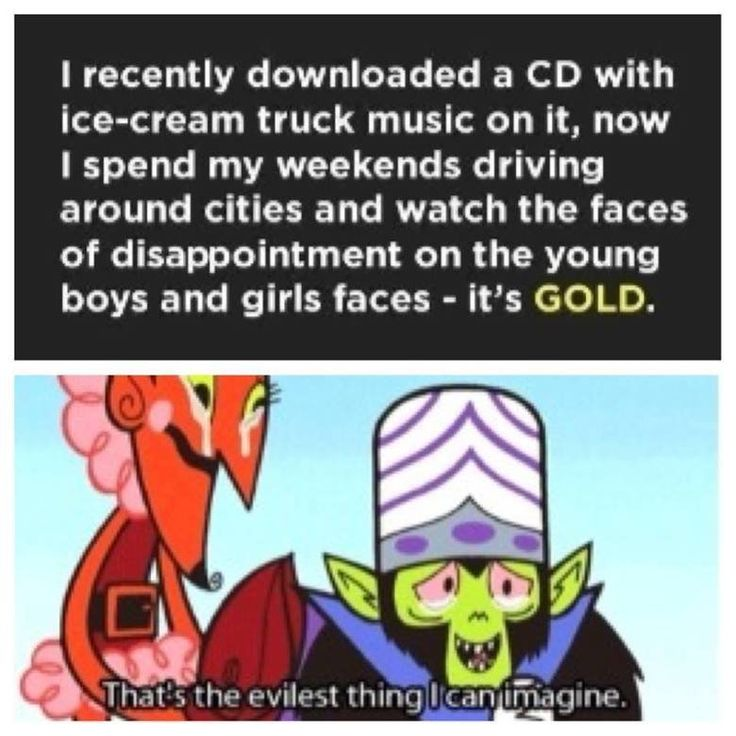 Download ice cream music & play it through neighborhoods with Mojo-Jojo meme - funny