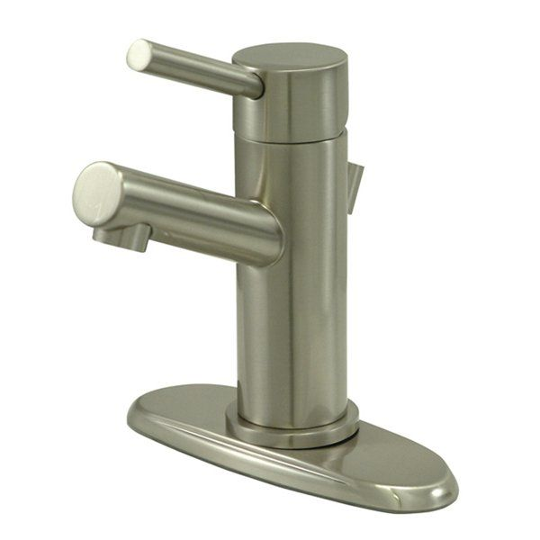 Kingston Brass Concord Centerset Bathroom Faucet With Brass Pop Up Drai  Satin Nickel Faucet Lavatory Single Handle