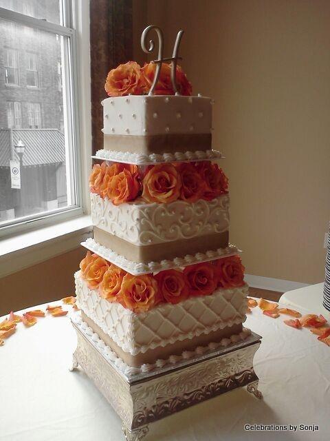 Elegant Fall Colors In The Beautiful Wellington Place In Springfield, MO ·  Classic EleganceCelebrationsWedding CakesCake Wedding