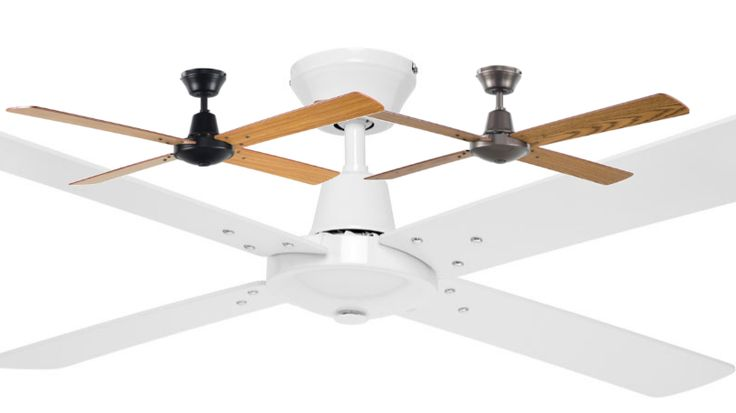 "Brilliant+Austin+48""+Ceiling+Fan+4+Blade+1200mm+-+White,+Black/Maple,+Silver/Oak+-+19645, $99.00"