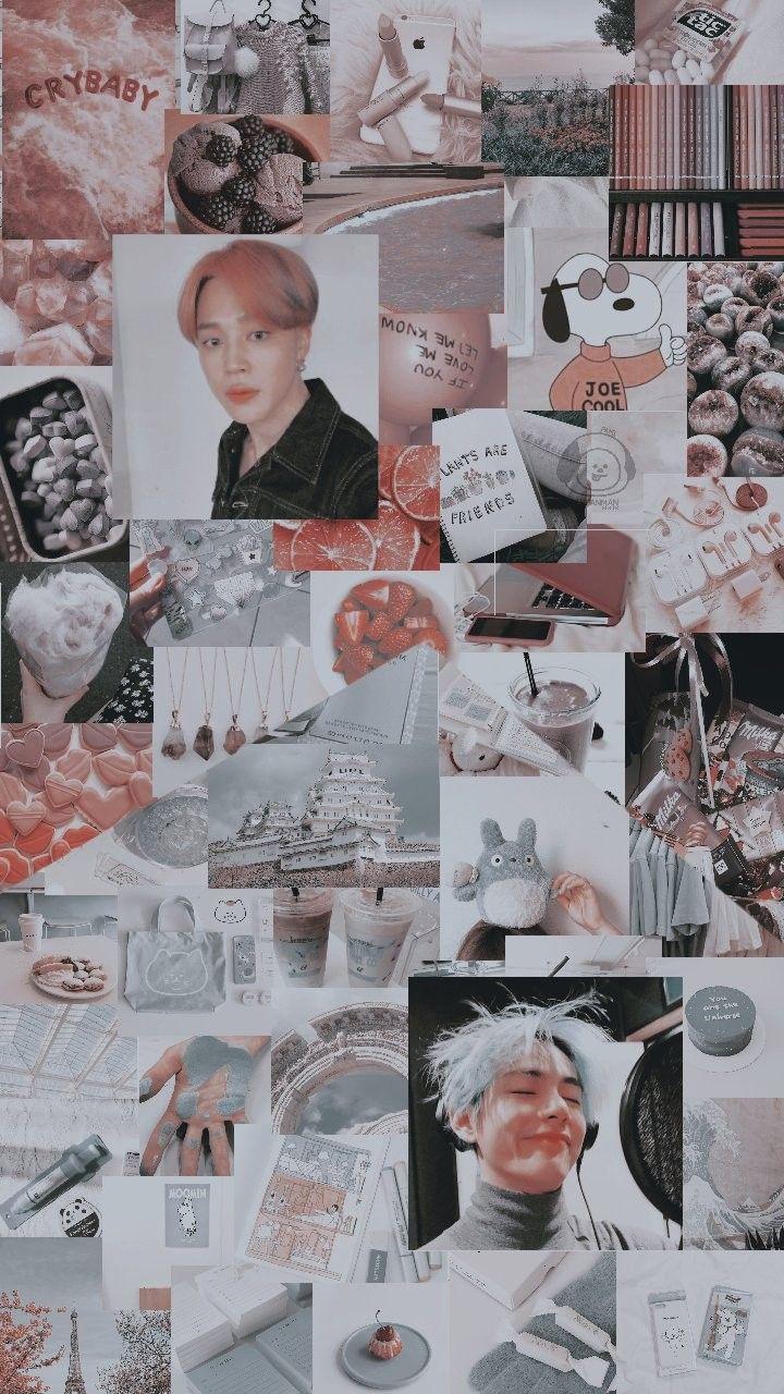 Vmin Aesthetic Wallpaper Credits To Twitter Anpanedits C Jimin Taehyung Vmin Latar Belakang