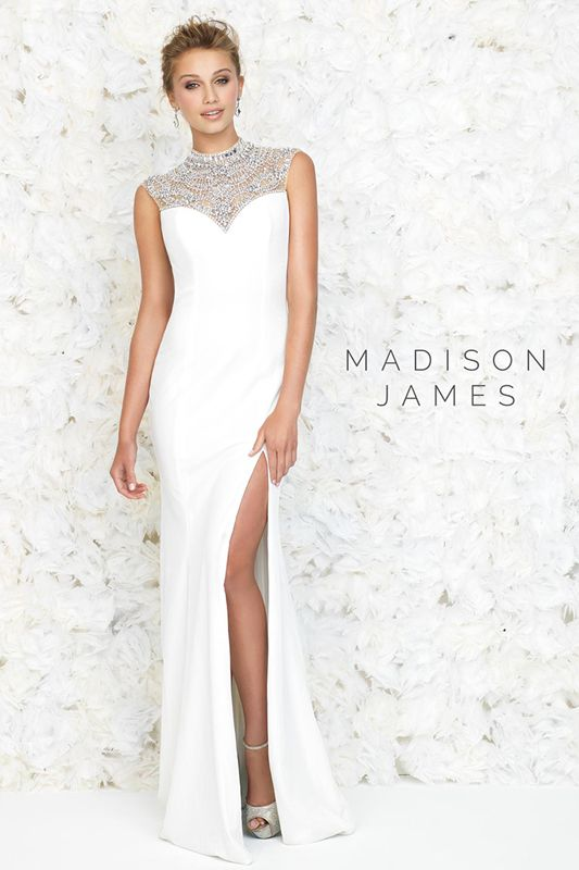 """Madison James 15-145 - This fluid velvet gown embodies the kind of jaw-dropping,""""Breakfast at Tiffany's"""" glamor every girl dreams about.  Brides of Melbourne 