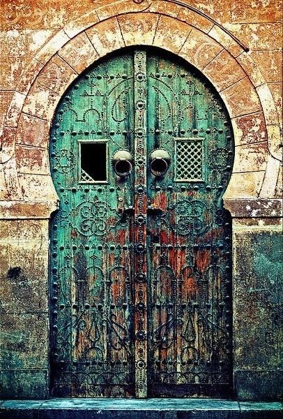 Very old Moroccan door. Tunisia Doors, Tunisian Doors, Green Doors ...