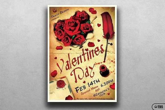 Valentines Day Flyer Template V5 by Thats Design Store on @creativemarket