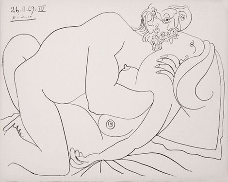 Pablo Picasso, Nu Couché lV on ArtStack #pablo-picasso #art