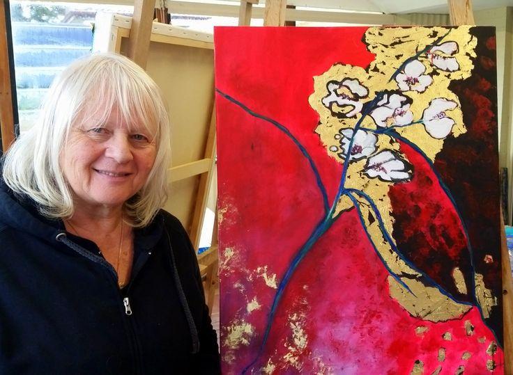 West Coast School of Art - Christine's gold leaf workshop