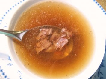 Oxtail Soup recipe - The oxtail soup is a classic German soup. You can enjoy it as a broth or thicken it with flour. Original German recipe.