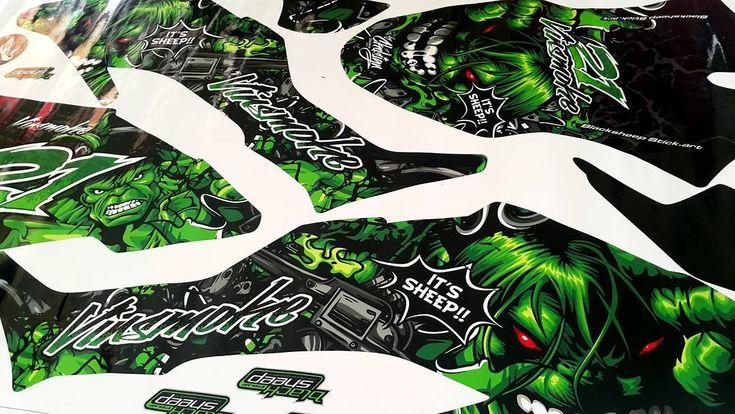 "Decal kit new klx bf ""The incredible Hulk""    #kawasaki #kawasakiklx #klxbf #supermoto #decal #mockup #garuda #theincrediblehulk #hulk #green #decalsticker #orajet #vector #highresolution #blacksheepstickart #banyuwangi & follow Instagram kami  @ckdsign"