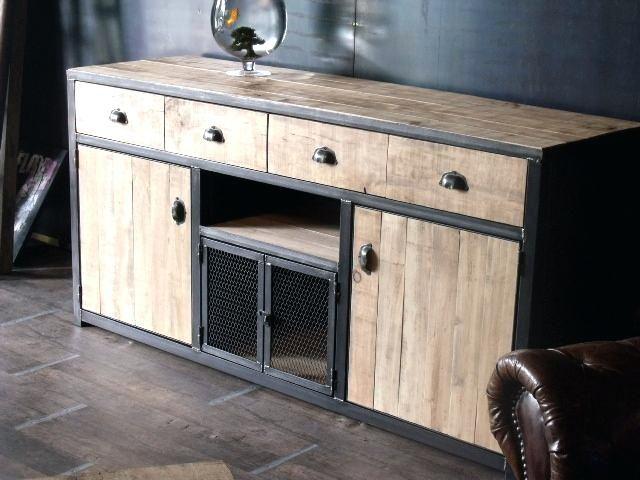 Meuble Bois Et Metal Buffet Bois De Palette Et Acier Racalisation Sur Mesure Wwwmicheli Industrial Style Furniture Vintage Industrial Furniture Metal Furniture