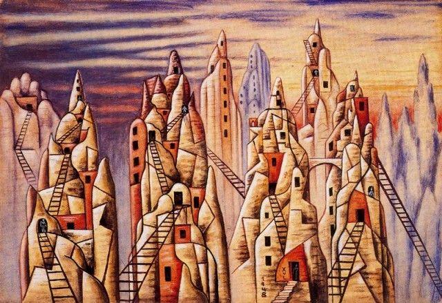 Trogloditas - Xul Solar (Oscar Agustin Alejandro Schulz Solari) - argentino (1887-1963)