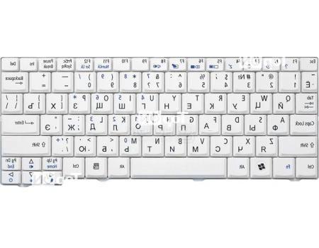 Клавиатура для ноутбука Acer Aspire One A110L, A110X, A150L, A150X, D250, ZG5 Series, TopON TOP-73401 Белый