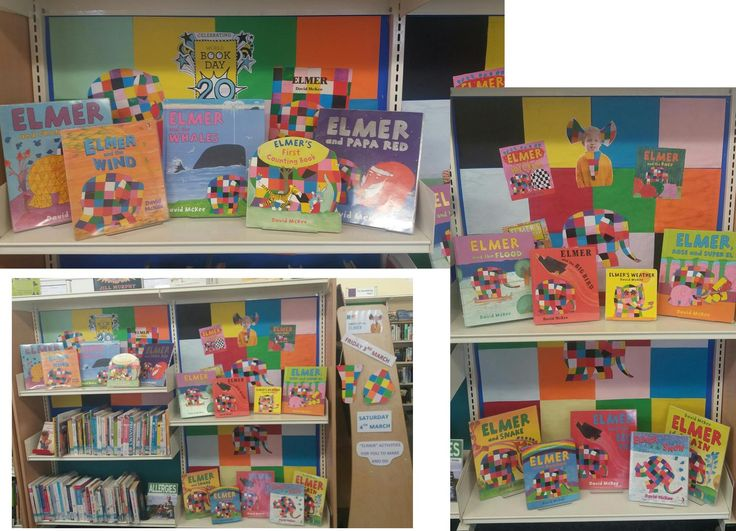 Elmer the Elephant on display at Stotfold Library