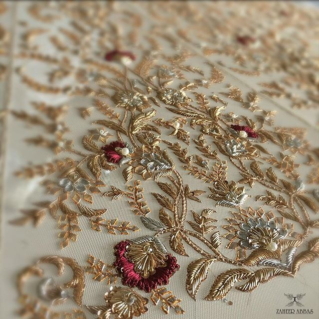 details from a customised bridal !