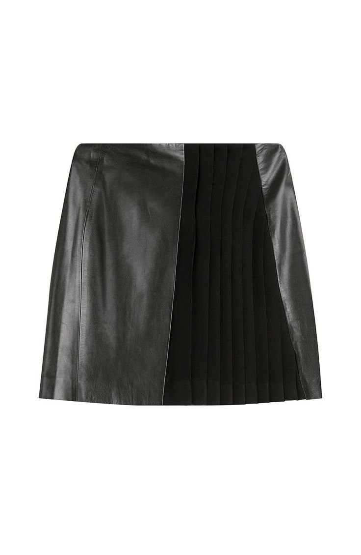 A-line Cut Leather Mini Skirt  https://www.australiaqld.com/product/a-line-cut-leather-mini-skirt/ #fashion #style #dresses