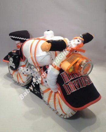 Harley Davidson Bike Diaper Cake - 9990334 - Baby Boy - Diaper Cakes - by