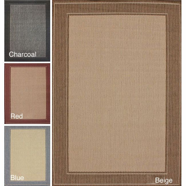 Nuloom Solid Border Outdoor Indoor Rug 9 X 12 By