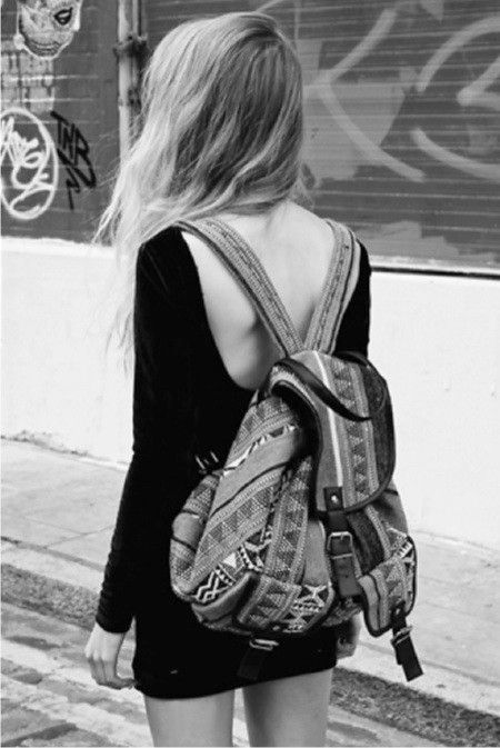 Back to black with a rucksack...