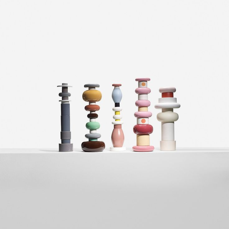 251: Ettore Sottsass / totems, set of five