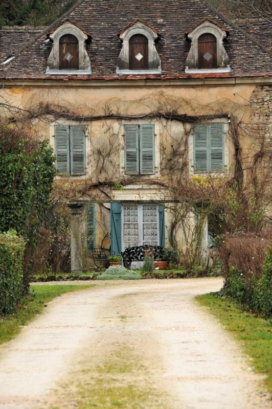 French Country Home Interior Design: Côte D'Or, France. House Facade Exterior French Country