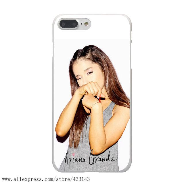 Ariana Grande Hard White Cover Case for iPhone 7 7 Plus 6 6S Plus 5 5S SE 4 4S
