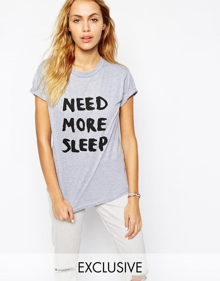 Adolescent Clothing   Adolescent Clothing Boyfriend T-Shirt With Need More Sleep Print at ASOS
