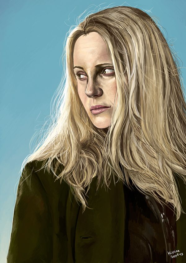 Saga Norén / painted in 2013 Bron / Broen / The Brige © Nimbus Film / Filmlance International Actress Sofia Helin